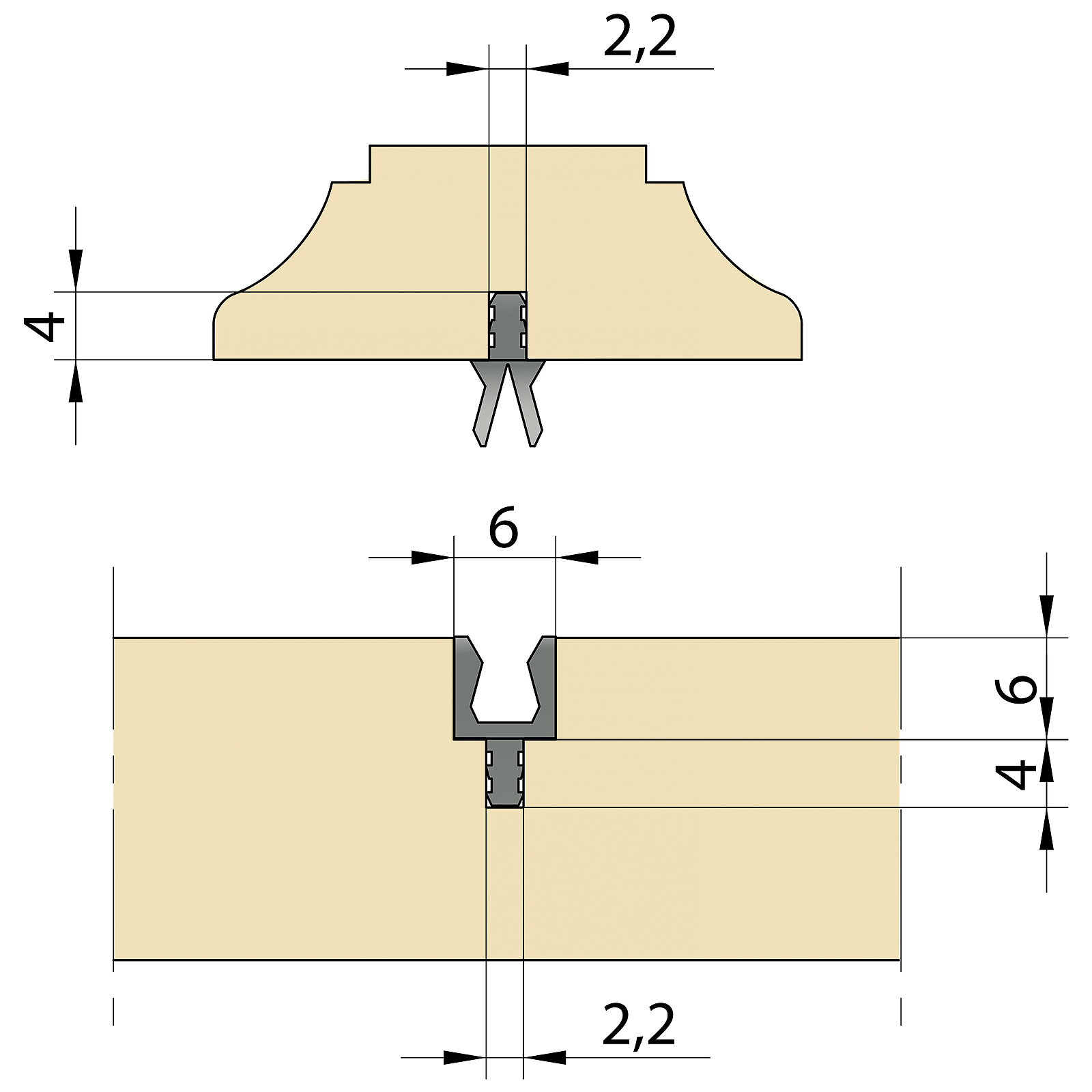 miniKLICK - Dovetail Connector