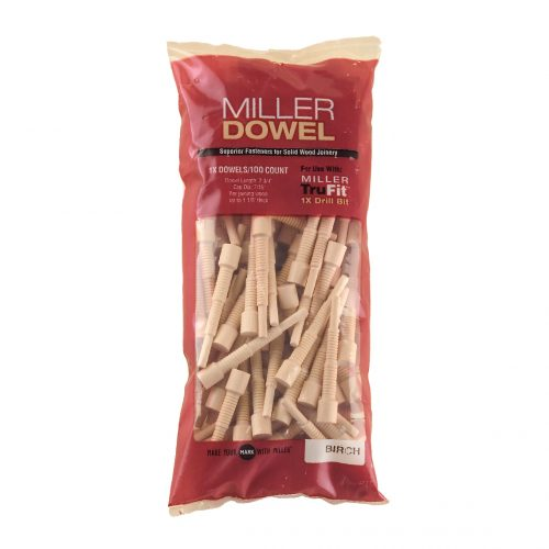 1x Birch Miller Dowel 100 pcs